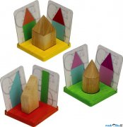 Puzzle stnov - 3D geometrick tvary a stny