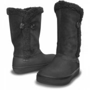 CROCS MODESSA SUEDE BUTTON BOOT W9 39-40/ ČERNÉ