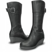 CROCS A-LEIGH LEATHER BOOT
