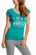 Luxusne tricko GUESS** tyrkysove/ tyrkysovy top