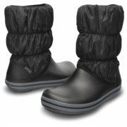CROCS WINTER PUFF BOOT W9 39-40 / BLACK