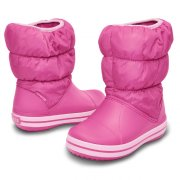 CROCS KIDS WINTER PUFF BOOT J2 33-34 / RUZOVE