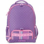 Crocs Girls Large BTS Backpack Dark Purple/Purple/
