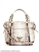 Presley Printed Zipper Satchel