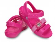 CROCS GIRLS KEELEY PETAL CHARM SANDAL C12 29-30
