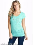 Luxusni tricko GUESS**tyrkysove / tyrkysovy top
