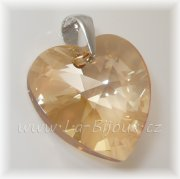 Maxi srdce Swarovski Heart 28mm Golden Shadow