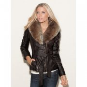 Bunda GUESS Kason Faux-Leather Coat, vel.XS ,  S ,  L