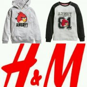 Mikina Angry Birds,  H&M, vel.146/152