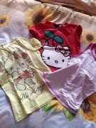 2 TRIKA HELLO KITTY + TÍLKO SNOOPY