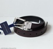 TOMMY HILFIGER pansky pasek cerny/bordovy**AS