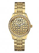 GUESS Gold-Tone Animal-Embossed Feminine Sport Wat