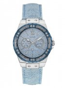 Hodinky GUESS Blue and Silver-Tone High Style