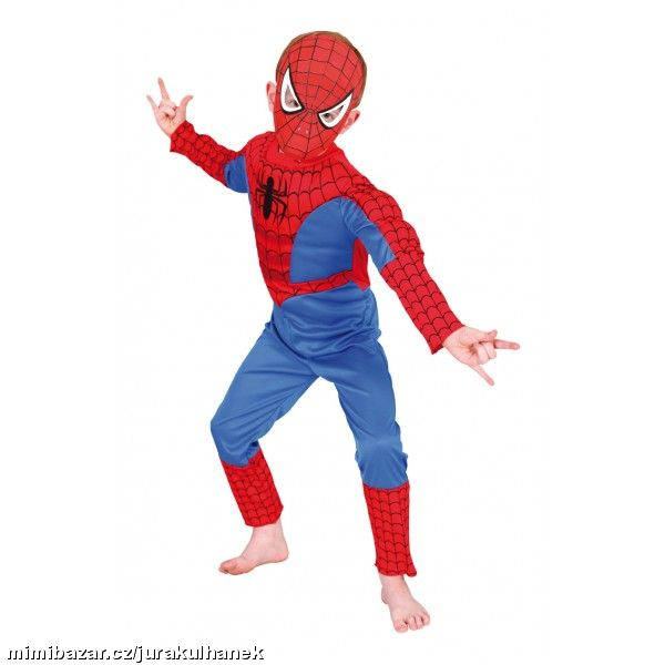 kostým Spiderman Deluxe svaly