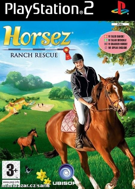 DVD ROM Playstation 2 - HORSEZ Ranch Rescue