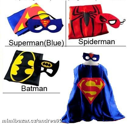 karneval Superman, Spiderman, Batman, Frozen