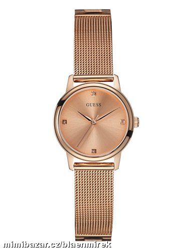 GUESS Rose Gold-Tone Sophisticated Diamond Watch