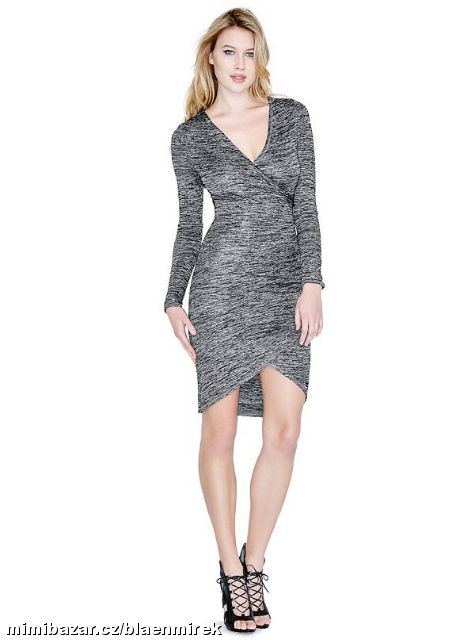 Prodám - Šaty GUESS BY MARCIANO Rakel Long Sleeve Wrap Dres 5a961bcce96