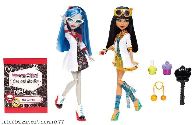 MONSTER HIGH 2pack GHOULIA YELPS+CLEO DE NILE