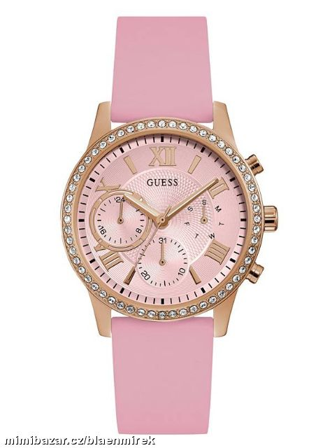 Hodinky GUESS Rose Gold-Tone and Pink Multifunctio