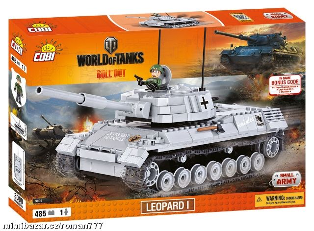 COBI 485 World of Tanks Tank Leopard 1 - 3009