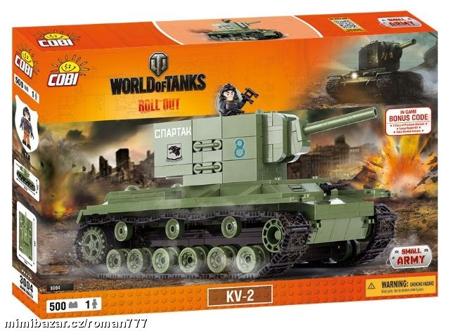 COBI 500 World of Tanks Tank KV-2 - 3004