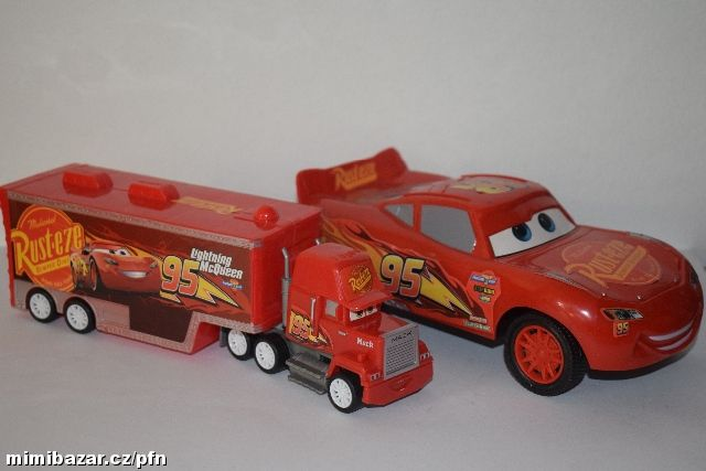 Auto McQueen + kamion Mack Cars