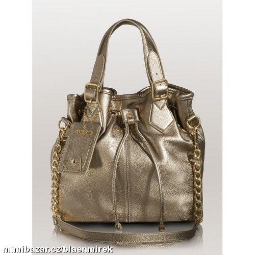 Prodám - GUESS Modern Simplicity Leather Bucket Tote 208751b92d4