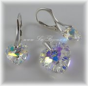 Souprava Swarovski Elements Heart 10+14mm