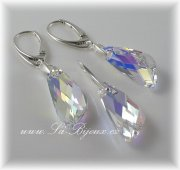 Souprava Swarovski Wings 23mm Crystal AB, AG 925
