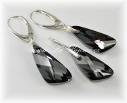 Souprava Swarovski Elements Wings Silver Night