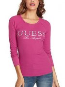 GUESS TRIČKO TRIKO Micki Thermal Top růžové TA0205