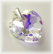 Swarovski Elements Heart 14mm, Crystal AB