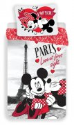 Povlečení Mickey a Minnie Paris I love you