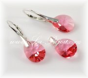 Swarovski Mini slza Rose Peach, Ag925,
