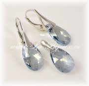 Swarovski Pear 22mm Crystal Blue Shade,  Ag925