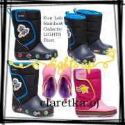 CROCS Fun Lab Galactic+Rainbow Lights sněhule AKCE