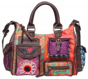 IHNED !!! DESIGUAL KABELKA PATCH ROJO