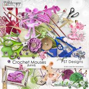 Crochet Mouses - kit pro digiscrapbook