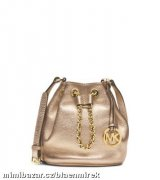 MICHAEL KORS Frankie Metallic Leather Crossbody
