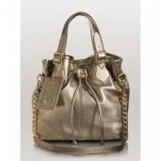 -Modern Simplicity Leather Bucket Tote