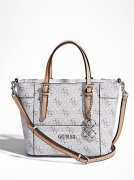 GUESS DELANEY LOGO AFFAIR MINI TOTE CROSSBODY