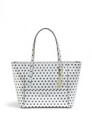 GUESS kabelka Delaney Rose Gold Polka-Dot Small Cl