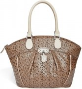 Kabelka Guess - Cologne Logo Dome Satchel Taupe