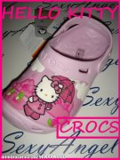 CR1/8++BOTY CROCS HELLO KITTY++J1++vel.32-33++