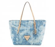 Kabelka GUESS Delaney Small Classic Denim Tote