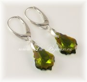 Swarovski Elements Baroque Ag925 Olivine AB