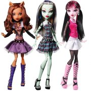 Monster high Frankie,  Clawdeen,  Draculaura 43 cm