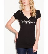Triko G BY GUESS Lori Sequined Wing Tee