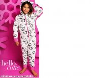 HELLO KITTY pyžamko overálek ONESIE 116 6-7 let